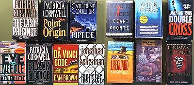 Huge Lot Books on Cassette Tape Mysteries & Thrillers Cornwell Patterson Follett