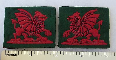 PAIR of OLDER Vintage BRITISH ARMY SOUTH WALES DISTRICT FORMATION SIGN PATCHES