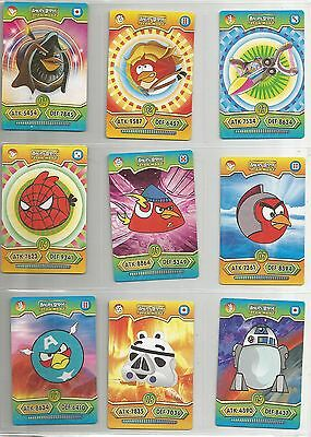 PERU STAR WARS ANGRY BIRDS TRADING CARD game (2012) complete set 78 cards