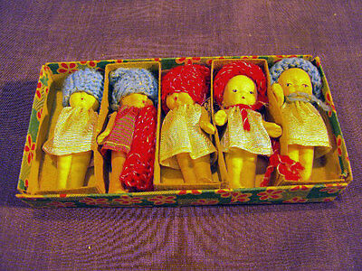 Tiny Doll Set - Made in Occupied Japan