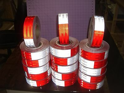 3m DOT-c2 983 Conspicuity Tape 2in x 150 ft RED/ WHITE REFLECTOR TAPE REFLECTIVE