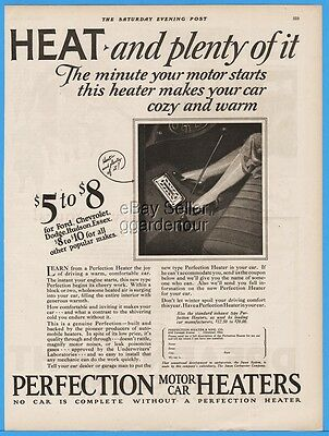 1926 Perfection Heater Co Cleveland OH Antique Motor Car Automobile Print Ad