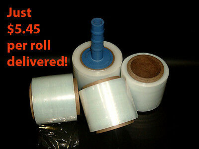 10 x Rolls 100mm x 300m 20um Clear Stretch Bundling Film