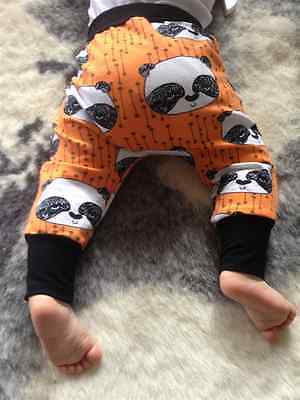 Hand Made - Baby Harem Pants - Size 00 (3-6months) Panda