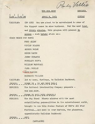 Fred Allen Jimmy Durante Jane Powell Original 1952 Radio Show Script