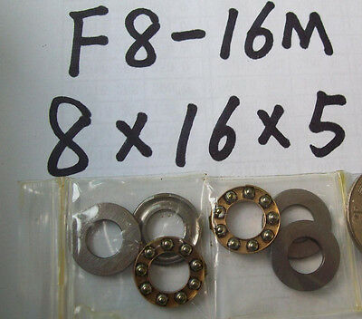 10pcs F8-16M Axial Ball Thrust Bearing 8 x 16 x 5mm