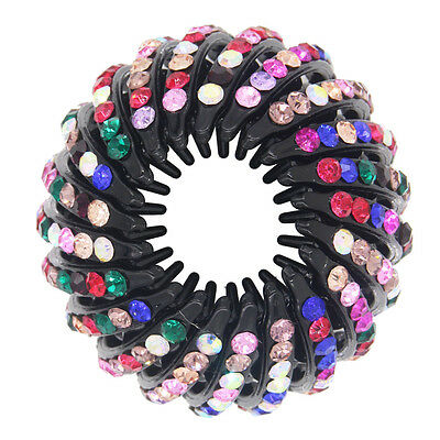 1PC Rhinestone Effortless Beauty Expandable Ponytailer Claw Clip Hair Comb