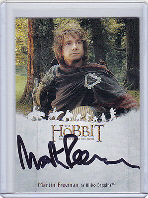 The Hobbit Battle of The Five Armies Martin Freeman as Bilbo Baggins Auto MF
