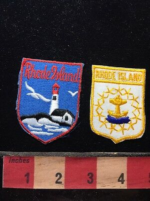 Souvenir Rhode Island Jacket Patch Lot Of 2 ~  671