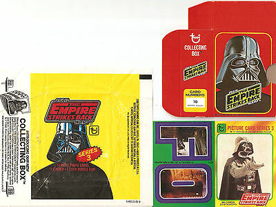 STAR WARS ESB TOPPS trading cards series 3 w/ stickers, wrapper, box(1980)