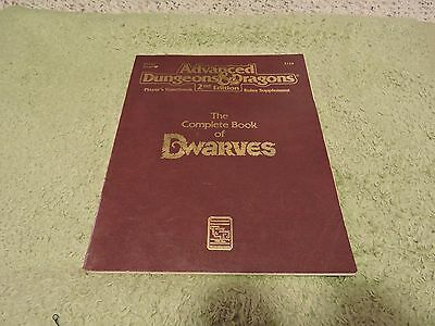 Advanced Dungeons and Dragons AD&D 2nd Edition - Complete Book of Dwarves