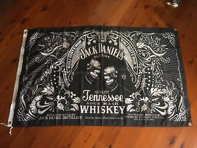 Jack daniels bourbon  3X2 FT VINYL POSTER pool room sign trumpie RUM BIKER