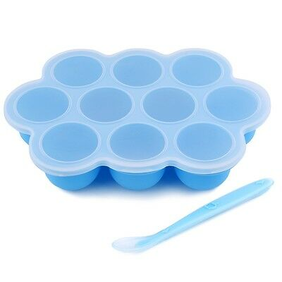 Baby Food Freezer Tray Soft Toddler Divided Plate Storage Container BPA Free