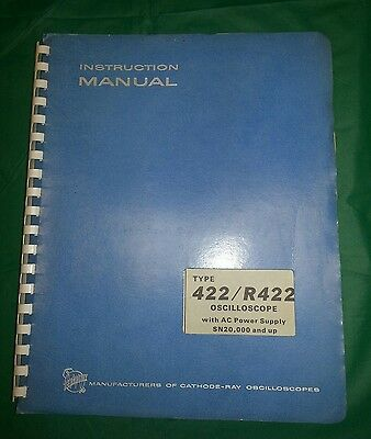 Tektronix Type 422/r422 Oscilloscope Instruction Service Manual 070-0434-01