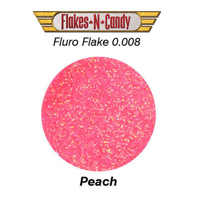 Metal Flake Hologram Flake Glitter (0.008) Paint Flakes 30G Fluro Peach