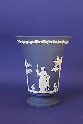 Large Deep blue Wedgwood Jasperware vase.
