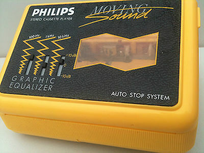 PHILIPS D 6616 Cassette Player Moving Sound Walkman Kassettenspieler EQ Yellow