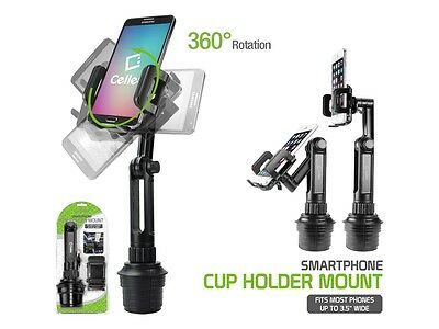 Adjustable Automobile Extended Cup Holder Cell Phone Mount for iPhone 7 Plus