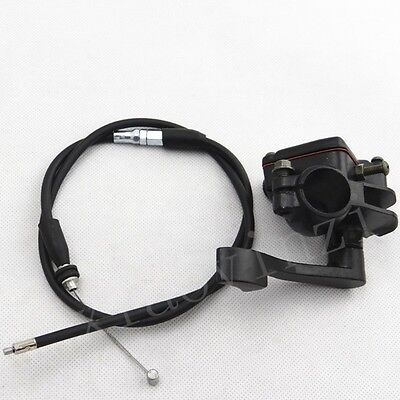 Quad Pit Bike ATV Thumb Throttle Holder + Throttle Cable Assembly