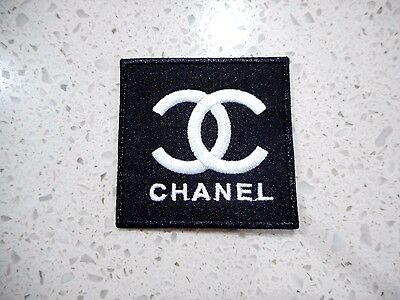 New Chanel Logo Patch Embroidered Cloth Patches Applique Badge Iron Sew On