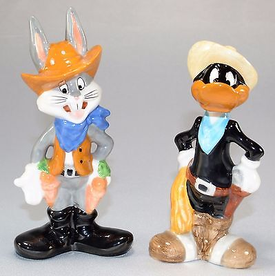 1993 Bugs Bunny And Daffy Duck Warner Brothers Salt Pepper Shakers