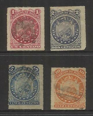 Bolivia ~ 1887 Eleven Star Arms Set (Roulette) Used