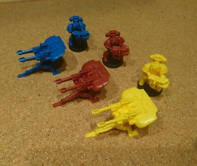 Space Crusade Tarantula set Red Yellow Blue with controllers & Marines (New)
