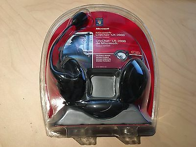 MICROSOFT LIFE CHAT LX-2000 COMPACT STEREO HEADSET Brand NEW! Free Shipping!!