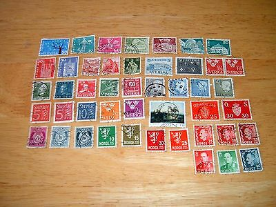 46 Used European Stamps. Please See Description For Details.