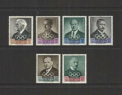 San Marino Italy ~ 1959 Olympic Games Leaders (Mint Mnh) Part Set