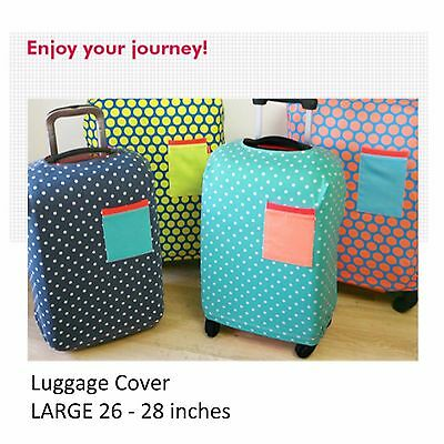 "26-28"" LARGE Elastic Luggage Suitcase Cover Protection Protector Covers Travel"