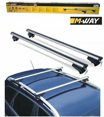 M-Way 135cm Aero Dynamic Lockable Aluminium Roof Bars for Mercedes Vaneo