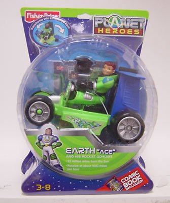 Planet Heroes - Earth Ace with Cart