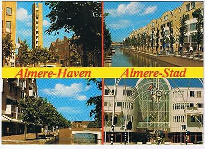 Holland Netherlands Postcard Almere Haven Stad Multi View