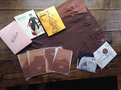 Vintage Lot Nylons Panty Hose Stockings 15 Denier Berkshire NOS Tan Seamless