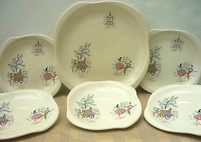 Collection of 1950s VINTAGE RETRO BESWICK PLATES  'Dancing Days'