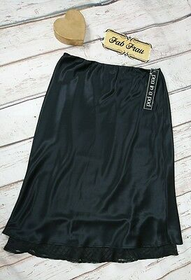 Black Satin Maternity Skirt Size 10 Pea in a Pod Evening NEW RRP $89.95