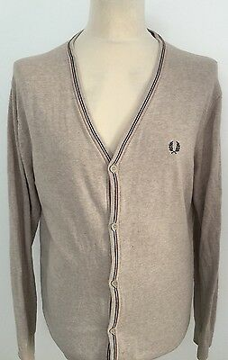 FRED PERRY Men's Cardigan Cotton Size XL