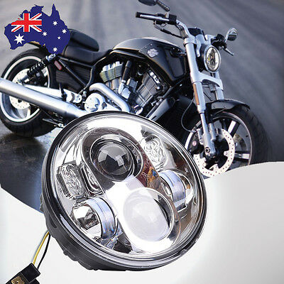 """1X 5.75"""" 5-3/4'' Motorcycle Hi/Lo Daymaker Projector LED Headlight For Harley AU"""