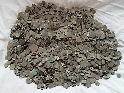 LOT OF 100 pcs UNCLEANED ROMAN COINS AE1, AE2, AE3 AND AE4