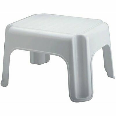 Rubbermaid - Step Stool With Mold Tread, 12.5 x 15.5 x 9.5 in,White,300lbs