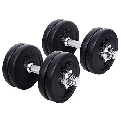 #TOP Dumbbell Set Weight Dumbbells Plates Home Gym Fitness Exercise 15KG