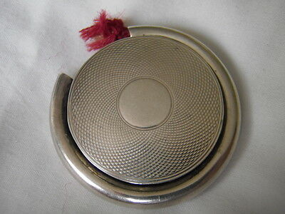 Asprey retail vesta case with taper, 1865, solid silver, RARE