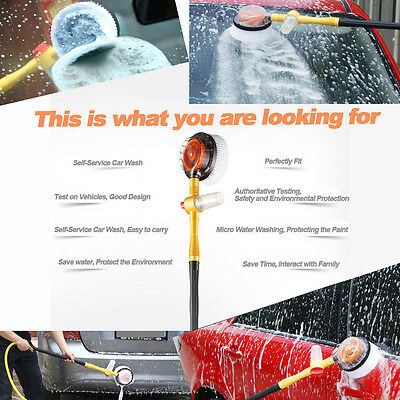 Car Wash Switch Water Flow Foam Brusher Portable Rotating Brush Auto Clean Tools