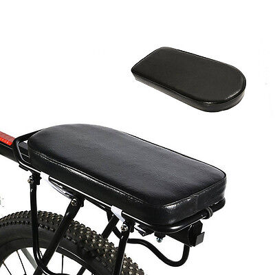 Black Comfortable Durable Bike Bicycle Rear Seat Cover Cushion Soft Gel Saddle