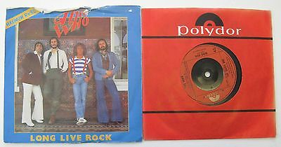 "2 The Who 7"" Singles Long Live Rock, You Better You Bet,"
