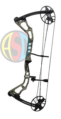 "ASD 2017 Mirage Compound Bow 15-70 Lbs 19-31"" Draw Length 300Fps *Camo Version*"