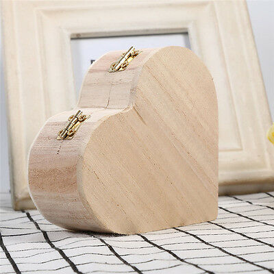 Storage Heart-Shaped Wooden Box Retro Wood Packaging Love Muhe Jewelry Boxes