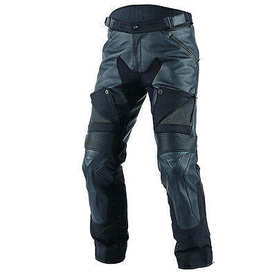 Dainese Cruiser D-Dry Black Motorcycle Motorbike Leather Trousers   All Sizes