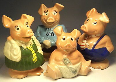 Wade NATWEST Piggy Money Boxes 'Woody' 'Annabel' 'Hilary' 'Maxwell' VGC(WH_0575)